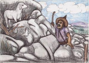 Kamerun-Karten Das verlorene Schaf