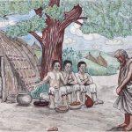 Kamerun-Bilder Drei Männer bei Abraham