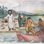 """Kamerun-Karten """"Der Auferstandene am See Tiberias"""""""