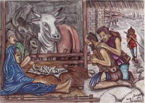 Kamerun-Karten Jesu Geburt