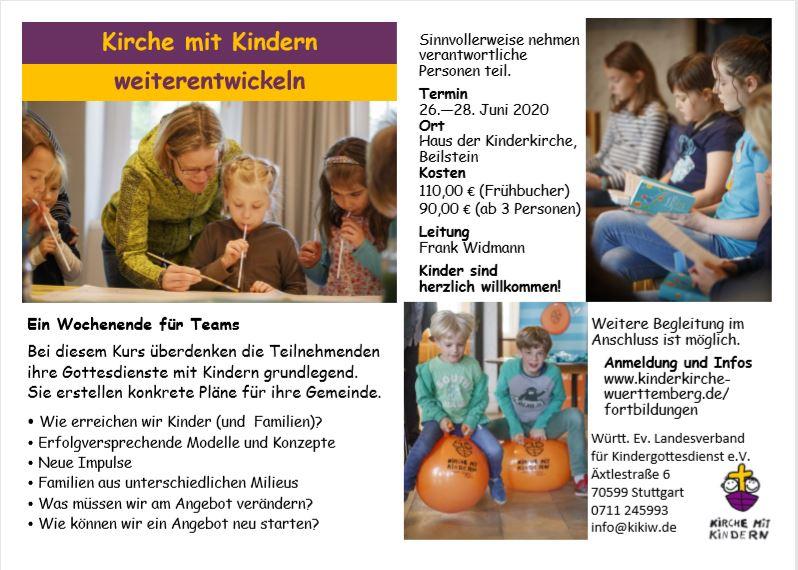 Kirche mit Kindern weiterentwickeln