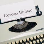 Schreibmaschine mit Blatt Corona Update
